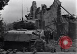 Image of American tanks on streets of St Lo Saint Lo France, 1944, second 9 stock footage video 65675027626