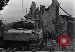 Image of American tanks on streets of St Lo Saint Lo France, 1944, second 12 stock footage video 65675027626