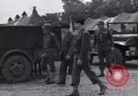Image of Stimson with Bradley and Patton tour field hospital Cherbourg Normandy France, 1944, second 5 stock footage video 65675027646