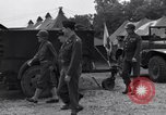 Image of Stimson with Bradley and Patton tour field hospital Cherbourg Normandy France, 1944, second 6 stock footage video 65675027646