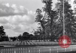 Image of US Army memorial day service at American cemetery Sainte Mere Eglise France, 1945, second 10 stock footage video 65675027651