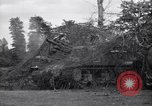 Image of M-7 Motor Carriage Saint Mere Eglise France, 1944, second 8 stock footage video 65675027664