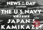 Image of Japanese Kamikaze attack Okinawa Ryukyu Islands, 1944, second 5 stock footage video 65675027694