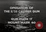 Image of 5 inch 25 caliber gun submarine gun United States USA, 1945, second 9 stock footage video 65675027731