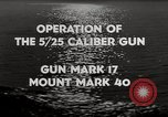 Image of 5 inch 25 caliber gun submarine gun United States USA, 1945, second 10 stock footage video 65675027731