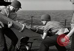 Image of five inch twenty five Caliber gun United States USA, 1945, second 9 stock footage video 65675027733