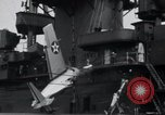 Image of F4F-3 crash on USS Wasp CV-7 Atlantic Ocean, 1941, second 11 stock footage video 65675027774