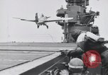 Image of F4F-3 strikes carrier island and crashes Atlantic Ocean, 1941, second 4 stock footage video 65675027792
