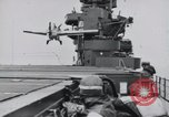 Image of F4F-3 strikes carrier island and crashes Atlantic Ocean, 1941, second 5 stock footage video 65675027792