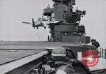 Image of F4F-3 strikes carrier island and crashes Atlantic Ocean, 1941, second 6 stock footage video 65675027792