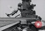 Image of F4F-3 strikes carrier island and crashes Atlantic Ocean, 1941, second 8 stock footage video 65675027792