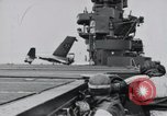Image of F4F-3 strikes carrier island and crashes Atlantic Ocean, 1941, second 11 stock footage video 65675027792