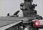 Image of F4F-3 strikes carrier island and crashes Atlantic Ocean, 1941, second 12 stock footage video 65675027792