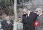 Image of President Johnson Arlington Virginia USA, 1967, second 1 stock footage video 65675027798
