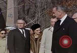 Image of President Johnson Arlington Virginia USA, 1967, second 12 stock footage video 65675027798