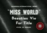 Image of Miss World Competition London England United Kingdom, 1961, second 5 stock footage video 65675027885