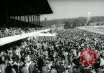 Image of horse race Laurel Maryland USA, 1961, second 10 stock footage video 65675027886