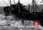 Image of fueling of ship Pacific Ocean, 1945, second 10 stock footage video 65675027917