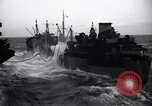 Image of fueling of ship Pacific Ocean, 1945, second 12 stock footage video 65675027917