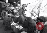 Image of Crew of USCGC Campbell have lunch on deck Nova Scotia, 1943, second 4 stock footage video 65675027942