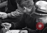 Image of Crew of USCGC Campbell have lunch on deck Nova Scotia, 1943, second 10 stock footage video 65675027942