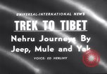 Image of Jawaharlal Nehru Tibet, 1958, second 4 stock footage video 65675027981