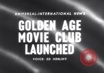 Image of Golden age movie club New York United States USA, 1958, second 3 stock footage video 65675027987