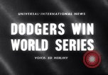 Image of 1959 baseball World series Chicago Illinois USA, 1959, second 1 stock footage video 65675027990