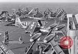 Image of Handling of jet aircraft on carrier flight deck United States USA, 1951, second 2 stock footage video 65675028028