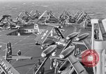 Image of Handling of jet aircraft on carrier flight deck United States USA, 1951, second 4 stock footage video 65675028028