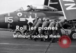Image of Handling of jet aircraft on carrier flight deck United States USA, 1951, second 8 stock footage video 65675028028