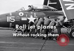 Image of Handling of jet aircraft on carrier flight deck United States USA, 1951, second 9 stock footage video 65675028028