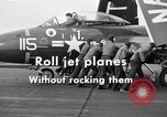 Image of Handling of jet aircraft on carrier flight deck United States USA, 1951, second 10 stock footage video 65675028028