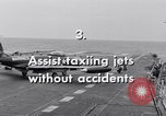 Image of Handling of jet aircraft on aircraft carriers United States USA, 1951, second 3 stock footage video 65675028030