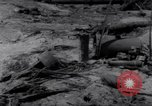 Image of wreckage on beachhead Majuro Marshall Islands, 1944, second 8 stock footage video 65675028038