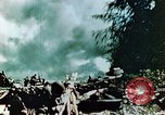Image of U.S. Marines on beachhead Saipan Northern Mariana Islands, 1944, second 12 stock footage video 65675028043