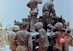 Image of U.S. marines set up camouflaged artillery  Saipan Northern Mariana Islands, 1944, second 4 stock footage video 65675028054