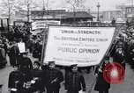 Image of British protest sinking of Lusitania London England United Kingdom, 1915, second 9 stock footage video 65675028067
