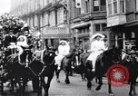 Image of Woman on horse cart Colwyn Bay Wales United Kingdom, 1915, second 7 stock footage video 65675028068