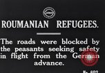 Image of Romanian refugees Romania, 1916, second 2 stock footage video 65675028072
