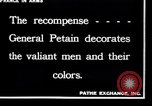 Image of French Marshal  Petain France, 1918, second 4 stock footage video 65675028100