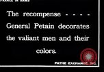 Image of French Marshal  Petain France, 1918, second 8 stock footage video 65675028100