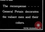 Image of French Marshal  Petain France, 1918, second 10 stock footage video 65675028100