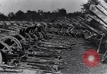 Image of German artillery captured by Canadian forces Western Front European Theater, 1917, second 2 stock footage video 65675028105