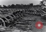 Image of German artillery captured by Canadian forces Western Front European Theater, 1917, second 3 stock footage video 65675028105