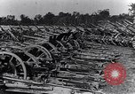 Image of German artillery captured by Canadian forces Western Front European Theater, 1917, second 4 stock footage video 65675028105