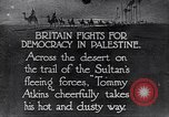 Image of British soldiers Palestine desert, 1935, second 1 stock footage video 65675028109