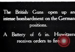Image of British gun batteries in Battle of the Ancre France, 1916, second 1 stock footage video 65675028123