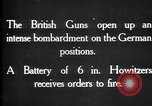 Image of British gun batteries in Battle of the Ancre France, 1916, second 2 stock footage video 65675028123