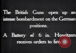 Image of British gun batteries in Battle of the Ancre France, 1916, second 3 stock footage video 65675028123